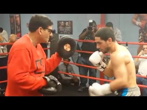 DANNY GARCIA MEDIA DAY WORKOUT 4/1/15! DANNY & ANGEL MITTS! GARCIA VS PETERSON 4/11/15 PBC ON NBC!