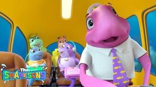 Wheels On The Bus SHARKSONS | Compilation! | Nursery Rhymes & Kids Songs! | Shark Songs