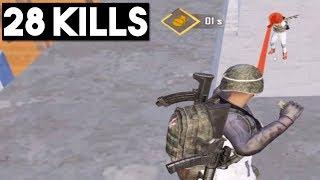 300 IQ Play | 28 KILLS Solo vs Squad | PUBG Mobile