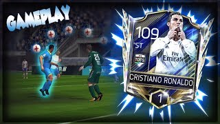 109 OVR TOTS RONALDO IS A GOD!! FIFA MOBILE 18 GAMEPLAY!!