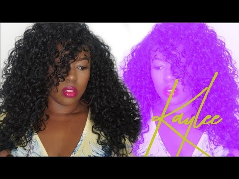 CURLS!!! JANET COLLECTION 13X4 LACE FRONT  KAYLEE WIG REVIEW