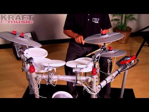 Kraft Music - KAT Percussion KT3 Digital Drum Set Demo with Mark Moralez