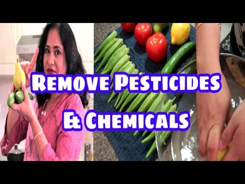 TELUGU | How To Remove Pesticides And Chemicals From Vegetables & Fruits (2018) | AVOID CANCER