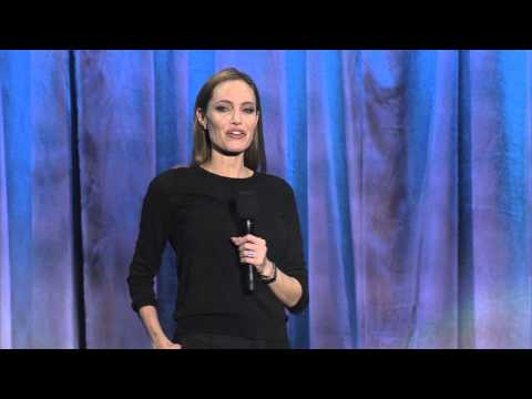 """Maleficent"" star Angelina Jolie discusses the new movie and Disney at the D23 Expo 2013"