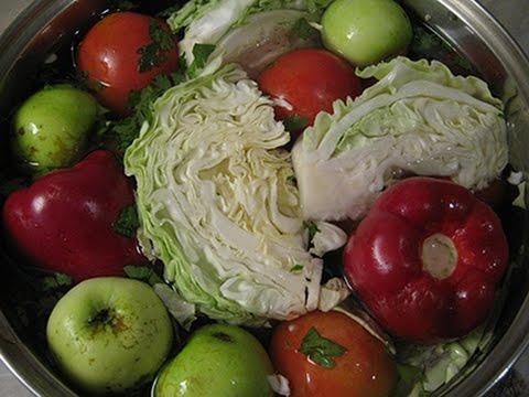 Ассорти из квашеных (моченых) овощей