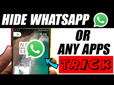 Hide Whatsapp or Any Apps on Android with this trick 👻