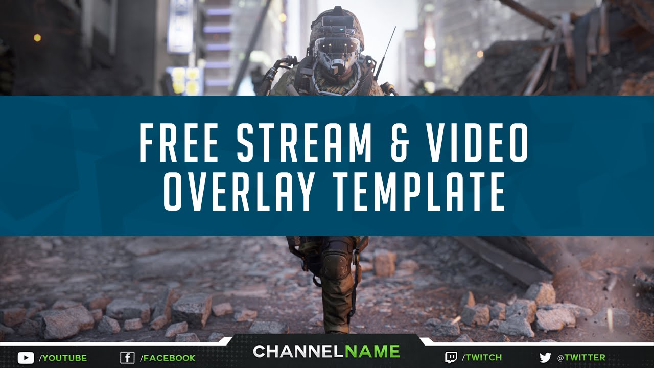 free gfx  free twitch overlay template stream  u0026 video
