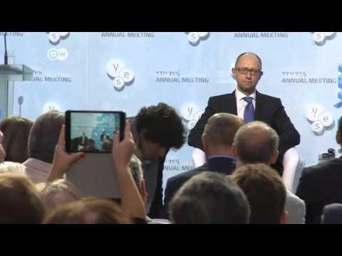 Yatsenyuk: conflict not over for Putin   Journal