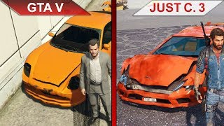 THE BIG GTA V vs. JUST CAUSE 3 SBS COMPARISON | PC | ULTRA