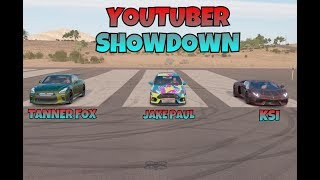 FORZA HORIZON 3 WITCH YOUTUBER CAR IS FASTER ???  * JAKE PAUL * * KSI * TANNER FIX *