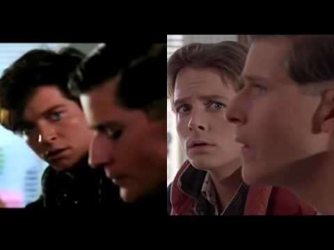 Back to the Future - Michael J. Fox & Eric Stoltz Side-by-Side Comparison