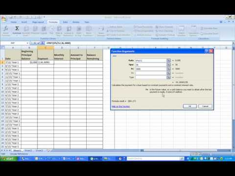 How to Create a Loan Amoritization Schedule in Excel
