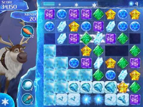 Frozen Free Fall Level 183 Live Action Play Walkthrough