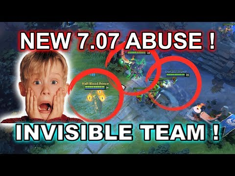Dota 2 NEW 7.07 BUG ABUSE - INVISIBLE TEAM!