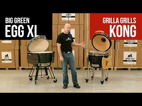 Big Green Egg XL vs Grilla Grills Kong: Ceramic Kamado Smokers Comparison