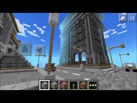 Minecraft PE map review - Giant city Survival Games!