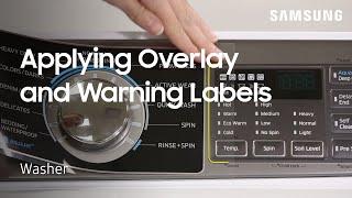 01. Samsung Wash Cycle Overlay Label and Warning Labels | Samsung US