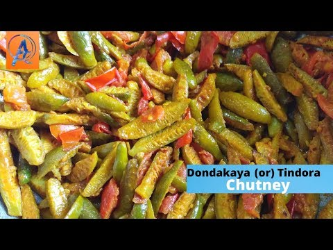 dondakaya chutney recipe | tasty traditional tindora chutney recipe | ivy gourd recipe