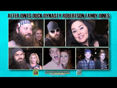 Duck Dynasty DWTS Robertson Family Parties in West Hollywood