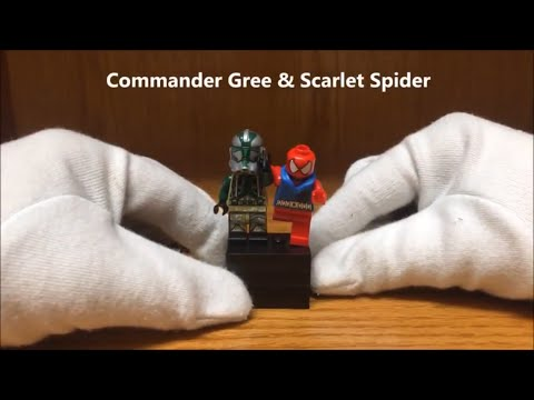 LEGO Commander Gree & Scarlet Spider New Summer 2016 Minifigures Review