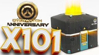 OVERWATCH ANNIVERSARY 101X LOOT BOX OPENING!? l OVERWATCH LOOT BOX OPENING!!