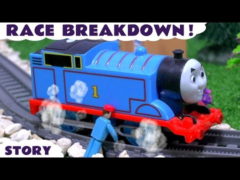 Thomas and Friends Toy Trains Race Accident Breakdown with Engineer's Tool Kit - Fun for kids TT4U