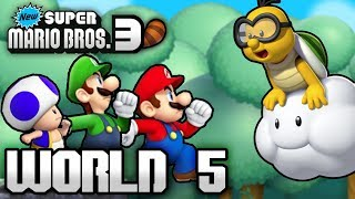 New Super Mario Bros. 3+ Part 5 - World 5 (4 Player)