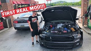 ADDING 200HP TO MY NEW GT500!!! RACING a Modified 5.0... *DIDN'T GO AS PLANNED*