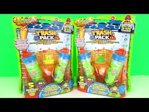 Surprise Trash Pack Series 7 Junk Germ 5-Packs Unboxing & Toy Review