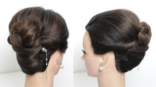 Easy And Simple Hairstyle With Hair Stick