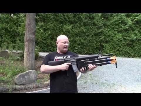 Double Barrel Knife Launcher for the M16 Assault Rifle