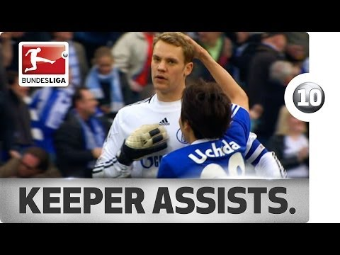 Sub now: http://redirect.bundesliga.com/_bwBd Normally their job is to keep clean sheets. But these goalkeepers have another passion: Assisting goals, and in spectacular fashion. You can't...