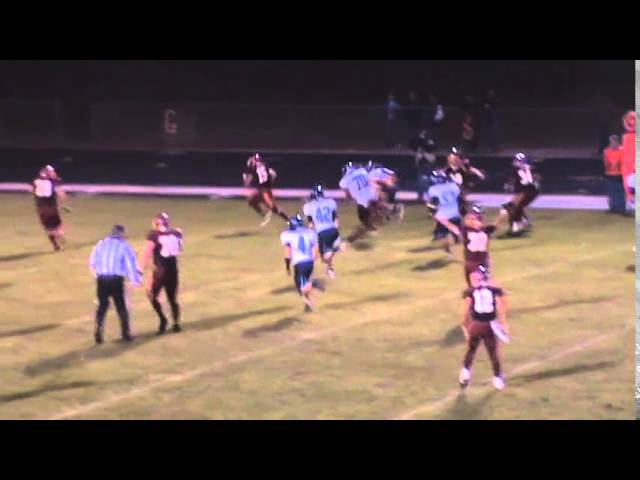 10-3-14 - Mikey Gutierrez's 28 yard TD extends the lead (Brush 34, Platte Valley 21)