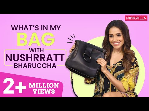 What's in my bag with Nushrat Bharucha  | Fashion | Bollywood | Pinkvilla