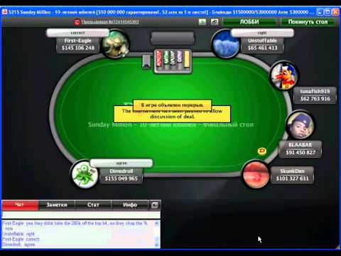 Sunday Million - 19 Dec 2011 . FINAL TABLE