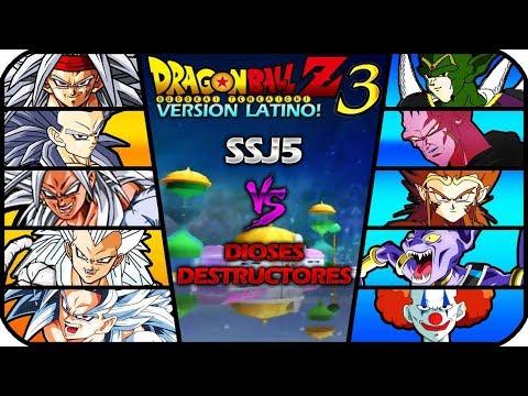 DRAGON BALL Z BUDOKAI TENKAICHI 3 VERSION LATINO FINAL GAMEPLAY SSJ5 VS DESTRUCTORES