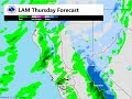 Band of heavy rain moving through NorCal on Feb 17th.