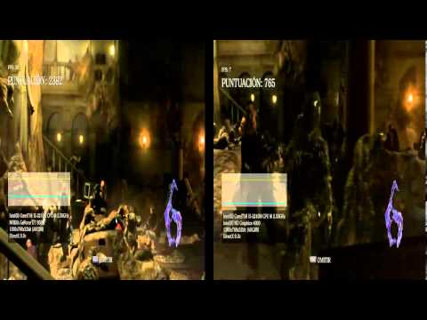 Intel(R) HD Graphics 4000 vs Nvidia GT 650M - Resident Evil 6 Benchmark