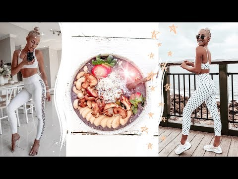 WHAT I EAT BEFORE AND AFTER A WORKOUT + Full body home workout