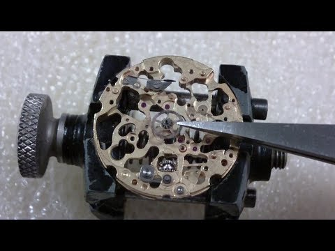 How I re-assemble a water damaged wrist watch. Invicta S1 Rally
