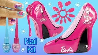 BARBIE TOTAL FASHIONISTA NAIL POLISH KIT High Heel Shoe Tin Hearts Beauty Kinder Suprise Egg