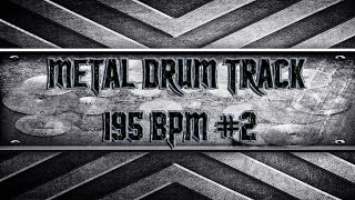 Thrash Metal Drum Track 195 BPM (HQ,HD)