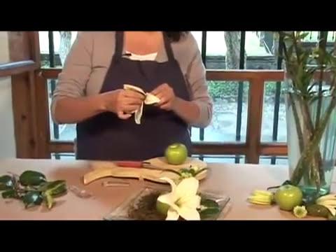 Como hacer un arreglo con manzanas verdes