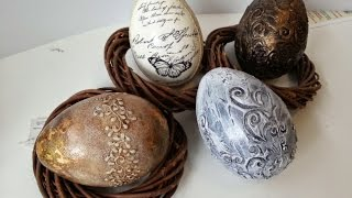 Oua de Pasti decorate unicat - Easter Eggs Tutorial