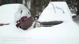 Glens Falls, NY Winter Storm Extremely Deep Snow - 1/20/2019
