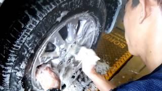 5S_Cách rửa xe oto bằng cầu nâng 1 trụ Sorento