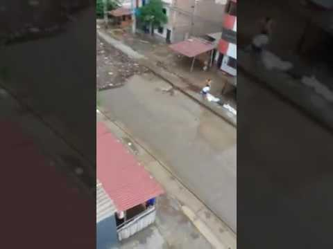 Desborde de rio en Trujillo