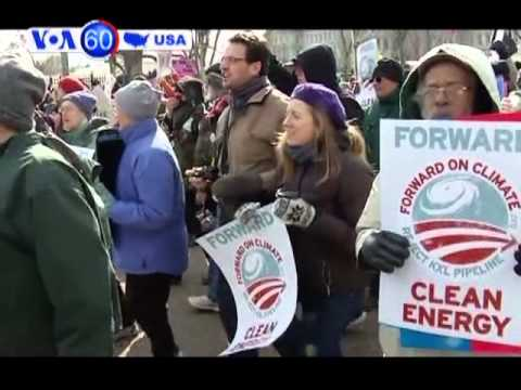 Climate change protesters flock to the nation's capitol, Washington DC- VOA60 America