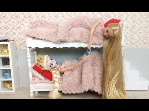 Disney Frozen Slaapkamer : Frozen elsa disney princess rapunzel doll bunk bed bedroom