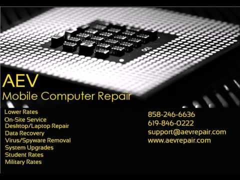 AEV Mobile Computer Repair | San Diego Virus Spyware Removal